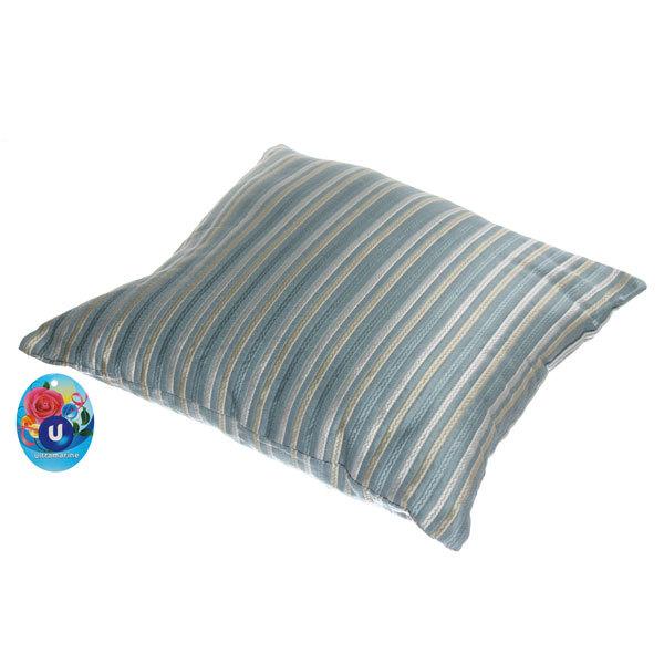 Подушка декоративная 44*44см ″Восточный уют″ полоски узкие голубые купить оптом и в розницу