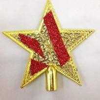Звезда на ёлку золото 15см ″Кружево″ купить оптом и в розницу