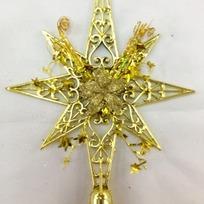Звезда на ёлку золото восьмиконечная 23см ″Фантазия″ купить оптом и в розницу