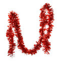 Мишура новогодняя 2 метра 8см ″Мерцание″ красный купить оптом и в розницу