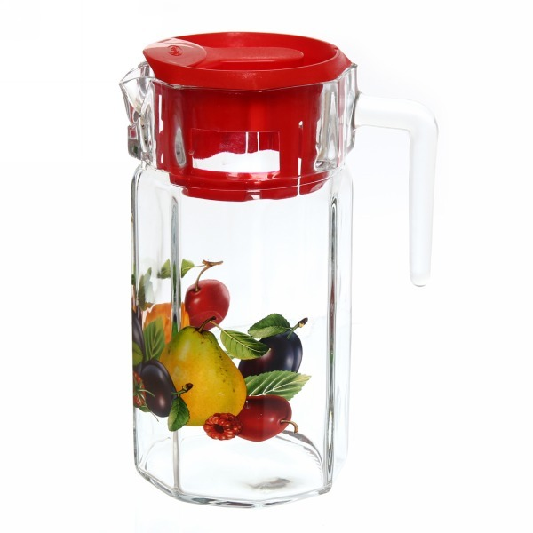 Набор питьевой 7 предметов: Кувшин 1,23л, 6 стаканов 200мл ″Слива″ купить оптом и в розницу
