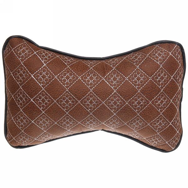Подушка-подголовник, искусственная кожа комплект 2шт., размер 28*20см купить оптом и в розницу