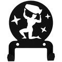 Крючок универсальный, серия ″Астрология″, модель ″Водолей - 2″, цвет черный купить оптом и в розницу