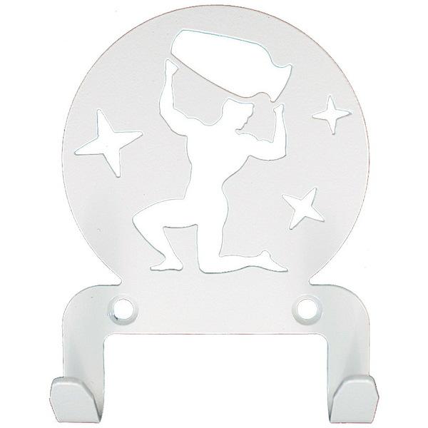 Крючок универсальный, серия ″Астрология″, модель ″Водолей - 2″, цвет белый купить оптом и в розницу