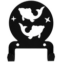 Крючок универсальный, серия ″Астрология″, модель ″Рыбы - 2″, цвет черный купить оптом и в розницу