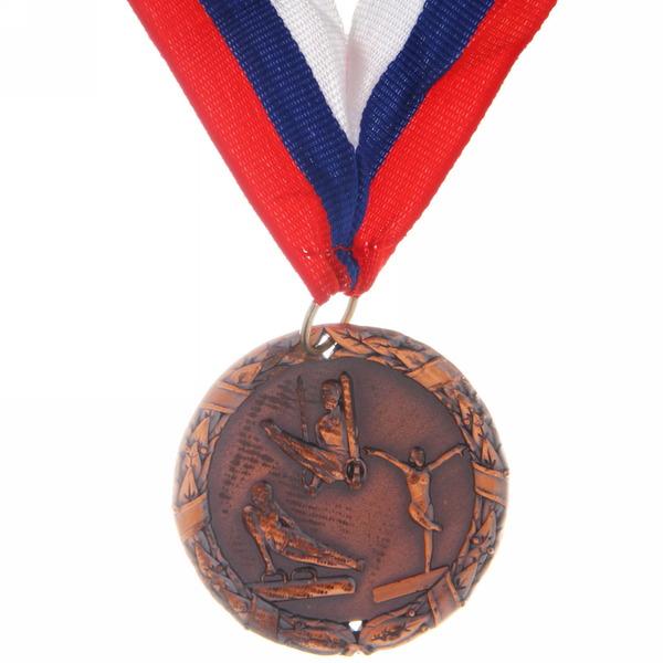 Медаль ″ Спортивная гимнастика ″- 3 место (4,5см) купить оптом и в розницу