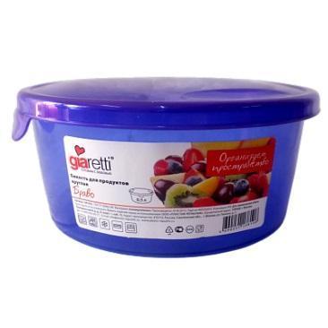 Емкость для продуктов Браво круглая 0,5 л микс купить оптом и в розницу