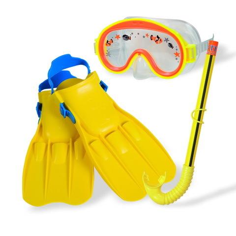 Набор для подводного плавания детский Adventure View: маска,трубка,ласты (разм. 35-37) Intex (55954) купить оптом и в розницу