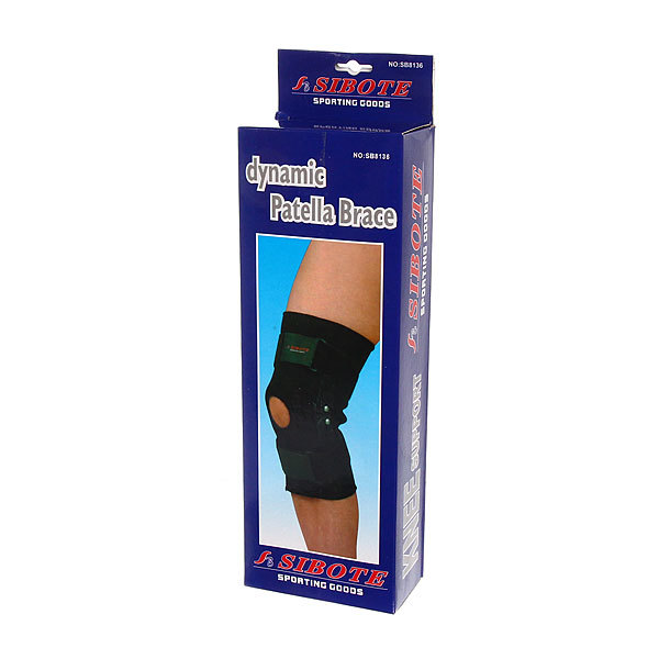 Суппорт на колено фиксирующий Sibote SB8136 (с 2-мя металлическими шарнирами) купить оптом и в розницу