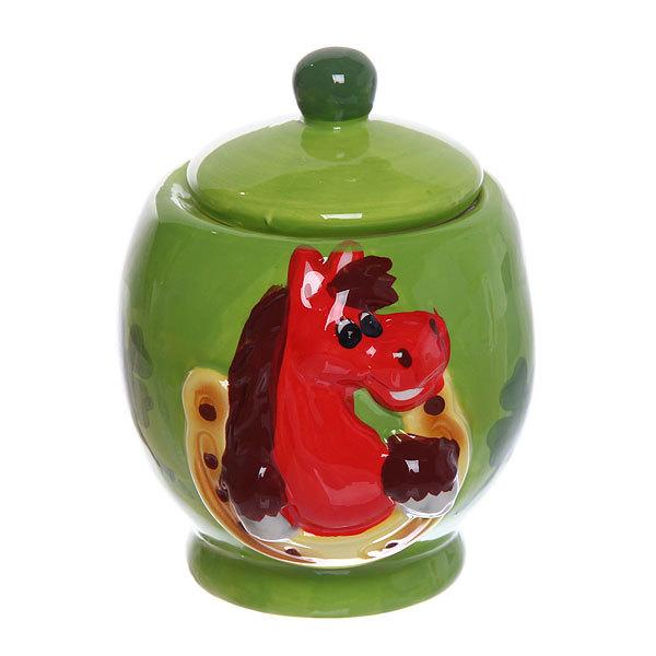 Банка для сыпучих продуктов ″Рысак удачи″, керамика купить оптом и в розницу