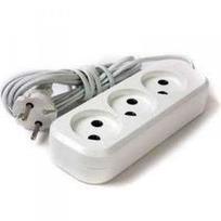 Удлинитель электрический 3 м/3 роз. б/з (ПВС 2*0,75) (1/30) купить оптом и в розницу