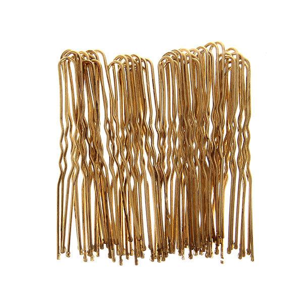Шпильки для волос 40шт ″Классика″, цвет золото 6см купить оптом и в розницу