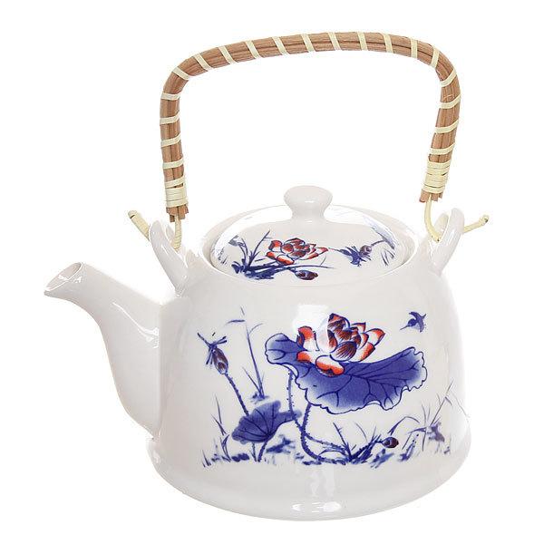 Чайник заварочный керамический 750 мл с ситом ″Лотос″ 35934-2 купить оптом и в розницу