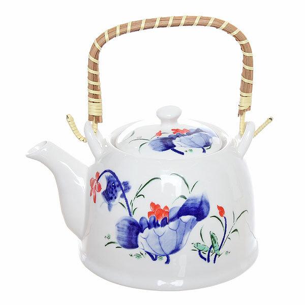 Чайник заварочный керамический 750 мл с ситом ″Лотос″ 2 купить оптом и в розницу
