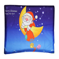 Наволочка декоративная 40*40см ″Дед мороз на луне″ купить оптом и в розницу