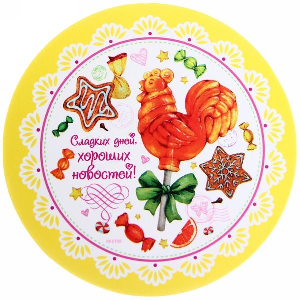 Подставка под кружку ″Сладких дней, хороших новостей!″, Сладкий петушок, 9 см купить оптом и в розницу