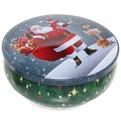 Банка жестяная 12,5*5см ″Дед мороз с фонариком″ купить оптом и в розницу