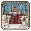 Банка жестяная 7,5*7,5*6см ″Снеговик с кормушкой″ купить оптом и в розницу