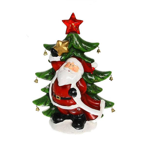 Фигурка с подсветкой ″Дед Мороз с Елочкой″ 29*23см купить оптом и в розницу