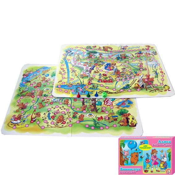 Игра ходилка Алиса в стране чудес, Винни Пух 00045 купить оптом и в розницу