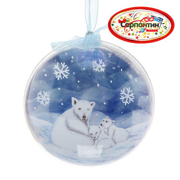 Новогодний шар ″Белый медведь″ 12см купить оптом и в розницу