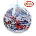 Новогодний шар ″Новогодний пейзаж″ 12см купить оптом и в розницу