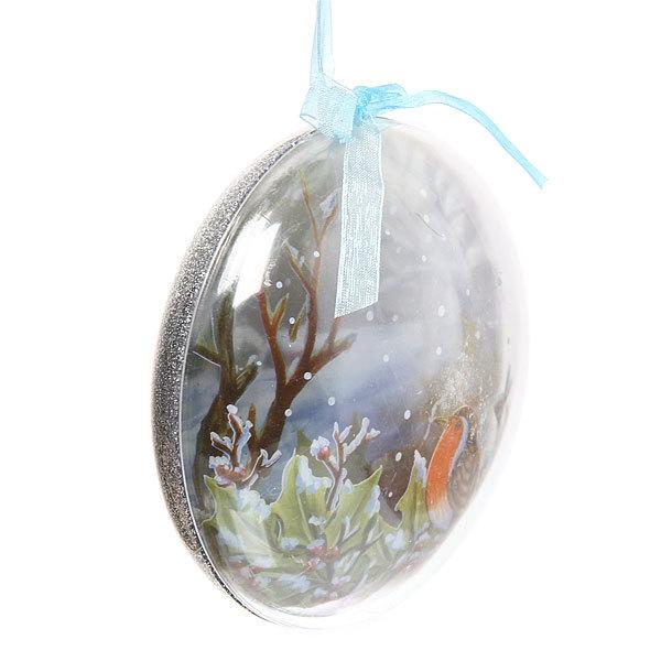 Новогодний шар ″Снегирь″ 12см купить оптом и в розницу