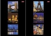 """Блокнот А5 40л.кл.склейка,карт.обл.HATBER, """"Лондон-Париж"""", выб.лак купить оптом и в розницу"""