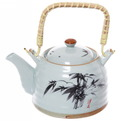 Чайник заварочный керамический 400 мл с ситом ″Трава″ купить оптом и в розницу