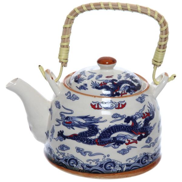 Чайник заварочный керамический 400 мл с ситом ″Драконы″ 660 купить оптом и в розницу