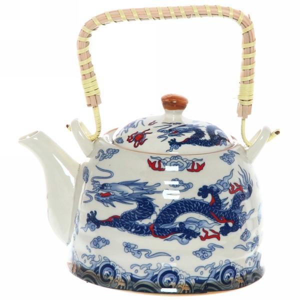 Чайник заварочный керамический 750 мл с ситом ″Дракон″ купить оптом и в розницу