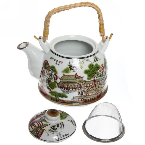Чайник заварочный керамический 750 мл с ситом ″Пагода″ 1 купить оптом и в розницу