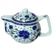 Чайник заварочный керамический 350 мл с ситом ″Цветы″ купить оптом и в розницу