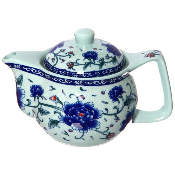 Чайник заварочный керамический 350 мл с ситом ″Цветы″ 662А купить оптом и в розницу