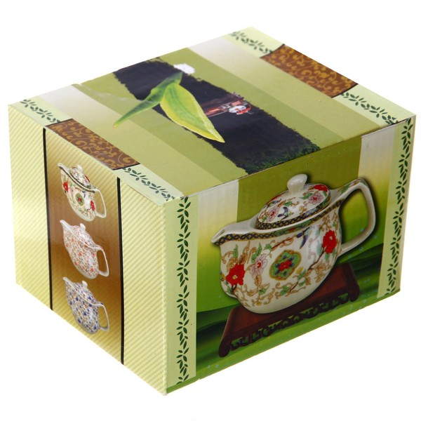Чайник заварочный керамический 350 мл с ситом ″Райские сады″ купить оптом и в розницу