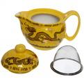 Чайник заварочный керамический 350 мл с ситом ″Желтый дракон″ купить оптом и в розницу