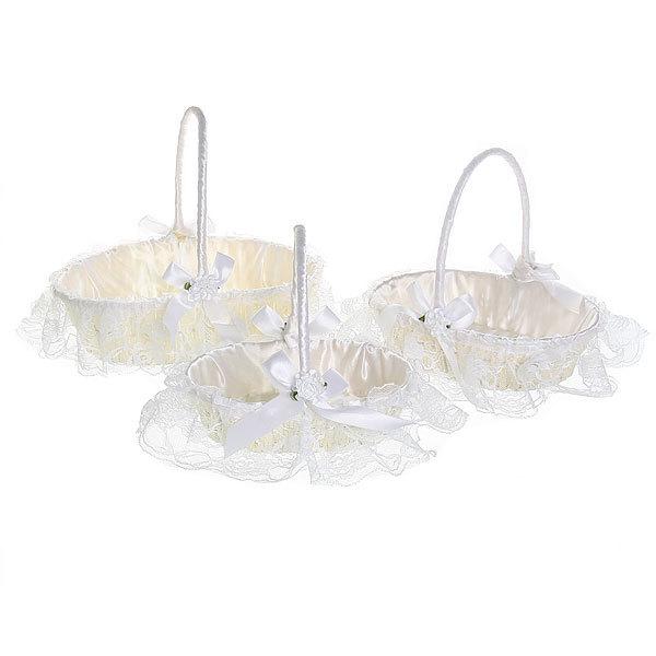 Корзина декоративная плетеная (3шт) с тканью 126 - 2 купить оптом и в розницу