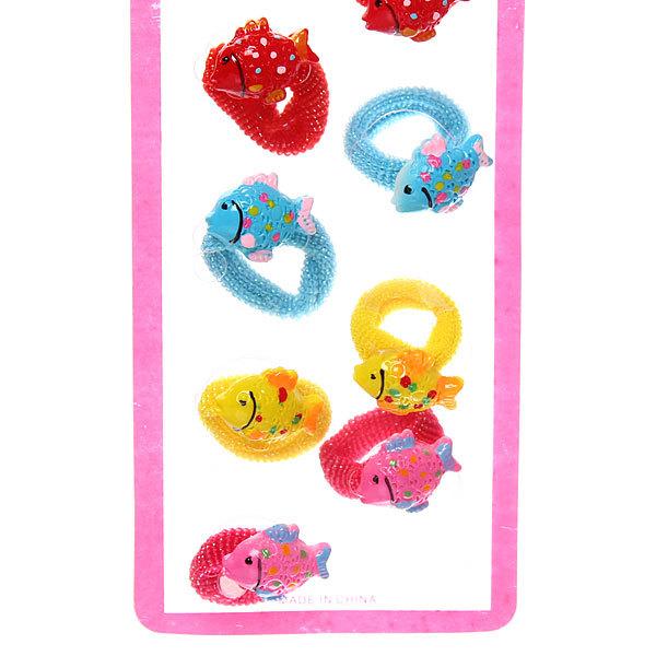 Резинки для волос на блистере 12шт ″Милые рыбки″, цвет микс купить оптом и в розницу