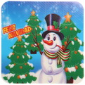 Салфетка на стол 42*27,5см ″Снеговик″ в наборе 6+6шт купить оптом и в розницу