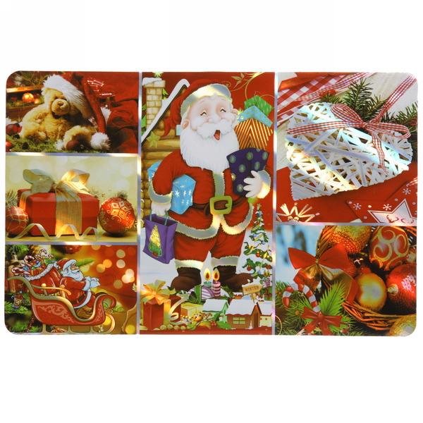 Салфетка на стол 42*27см ″Ёлочные игрушки″ в наборе 6+6шт купить оптом и в розницу