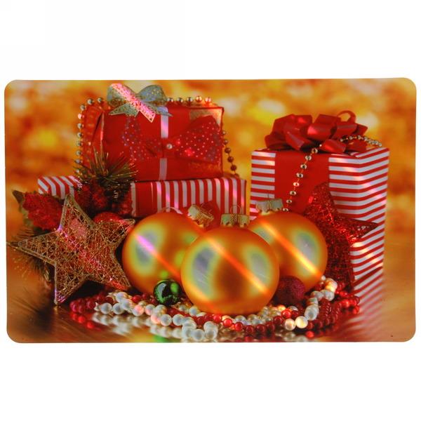 Салфетка на стол 42*27см ″Новогодние подарки и шары″ в наборе 6+6шт купить оптом и в розницу