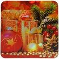 Салфетка на стол 42*27см ″Новогодне украшения″ в наборе 6+6шт купить оптом и в розницу