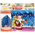 Салфетка на стол 42*27см ″Веселый Дед Мороз с подарками″ в наборе 6+6шт купить оптом и в розницу