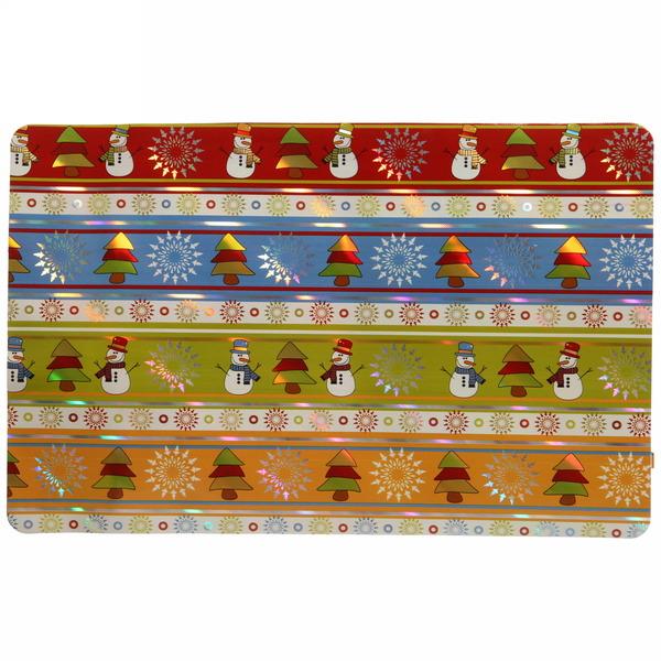 Салфетка на стол 42*27см ″Ёлки и снеговики″ в наборе 6+6шт купить оптом и в розницу