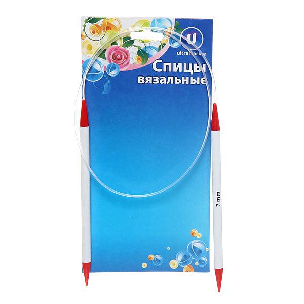 Спицы вязальные круговые пластиковые 7мм 80см купить оптом и в розницу