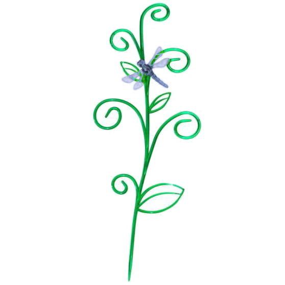Держатель для комнатных растений пластиковый ″Стрекоза на ветке″ зелен/фиолетовый купить оптом и в розницу