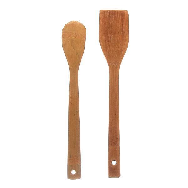 Лопатка кухонная деревянная в наборе 2 шт купить оптом и в розницу