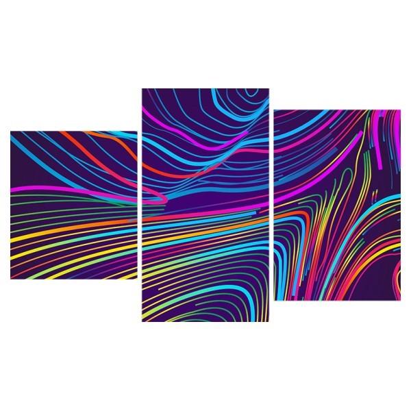 Картина модульная триптих 55*96 см, абстракция радужная купить оптом и в розницу