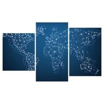 Картина модульная триптих 55*96 см, абстракция созвездия купить оптом и в розницу