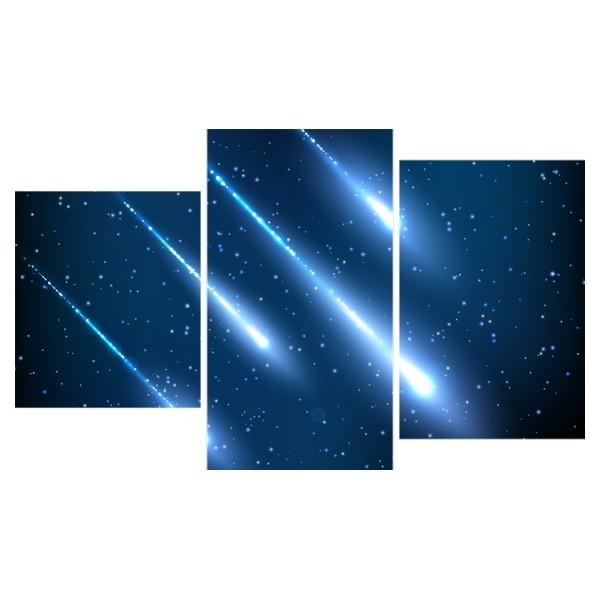 Картина модульная триптих 55*96 см, кометы купить оптом и в розницу